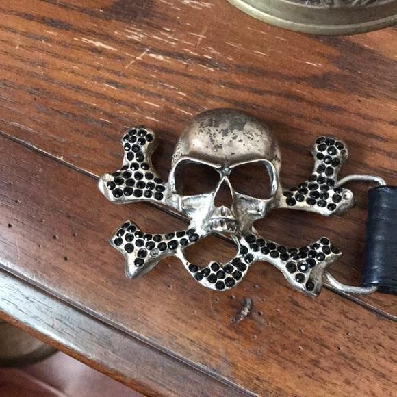 leatherock Accessories - Leather skull belt 💀